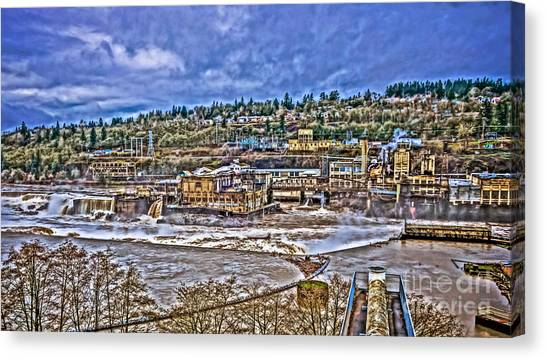 Portland Timbers Canvas Print - Willamette Falls - Hydroelectric by Cari Madsen