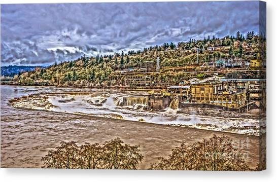 Portland Timbers Canvas Print - Willamette Falls - Running Full by Cari Madsen