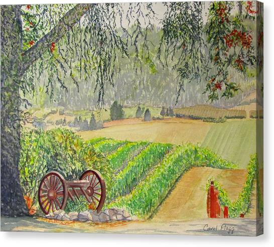 Willamette Valley Winery Canvas Print