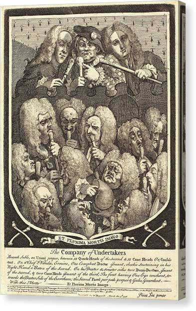 Undertaker Canvas Print - William Hogarth,english, 1697-1764, The Company by Litz Collection