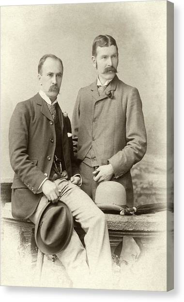 Johns Hopkins Canvas Print - William Osler And Ramsay Wright by National Library Of Medicine
