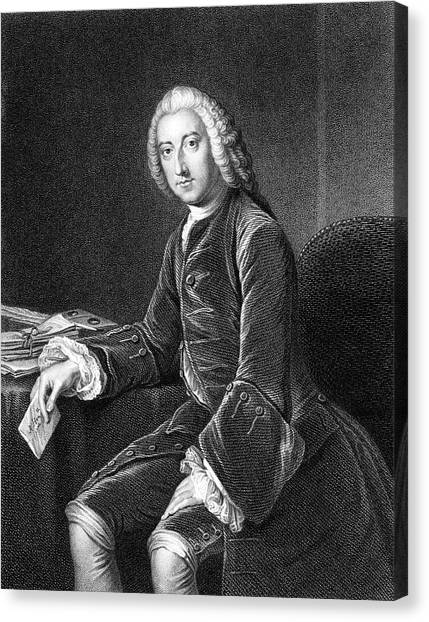 William Pitt - The Elder  1st Earl Canvas Print by Mary Evans Picture Library