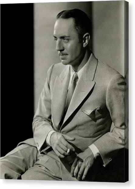William Powell Wearing A Suit Canvas Print by Barnaba