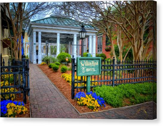 Canvas Print featuring the photograph William Rand Tavern At Smithfield Inn by Williams-Cairns Photography LLC