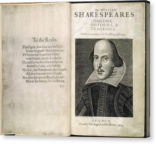 English And Literature Canvas Print - William Shakespeare by British Library