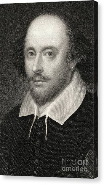 Shakespeare Canvas Print - William Shakespeare by English School