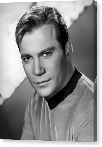 James T. Kirk Canvas Print - William Shatner by Mountain Dreams