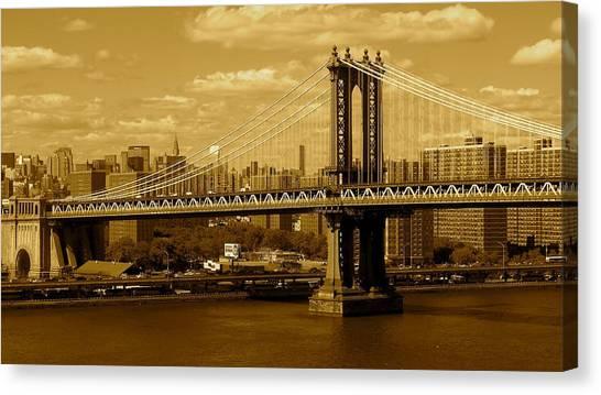 Williamsburg Bridge New York City Canvas Print