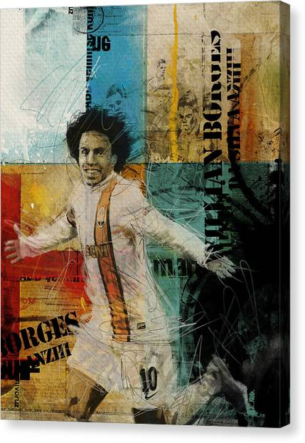 Real Madrid Canvas Print - Willian Borges Di Silva - B by Corporate Art Task Force