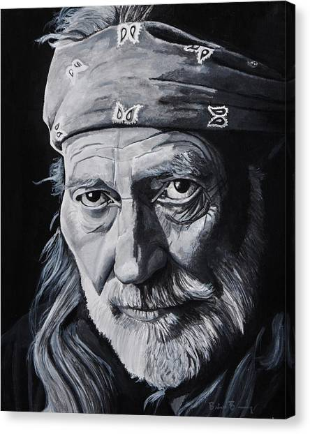 Marijuana Canvas Print - Willie  by Brian Broadway