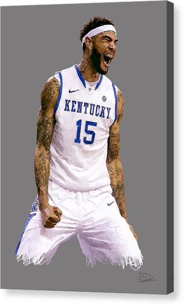 Sec Canvas Print - Willie Cauley-stein by Charley Pallos