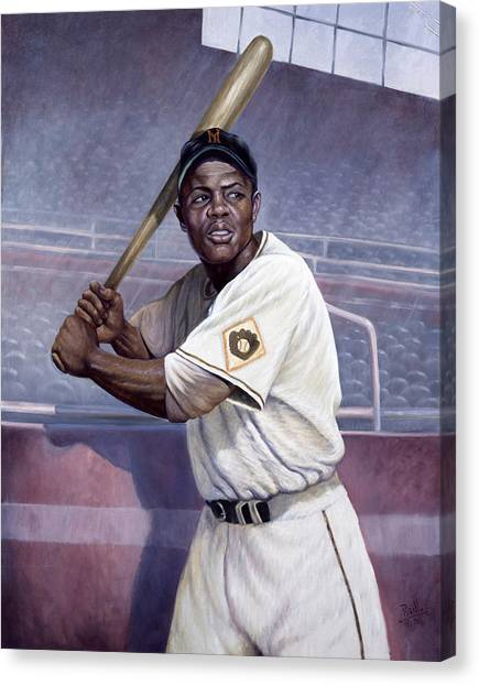 Barry Bonds Canvas Print - Willie Mays by Gregory Perillo