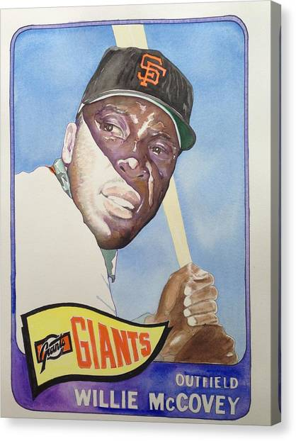 Willie Mccovey Canvas Print by Robert  Myers