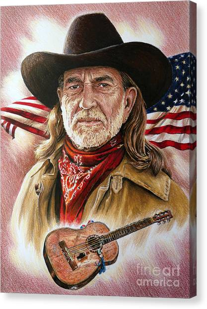 Willie Nelson American Legend Canvas Print