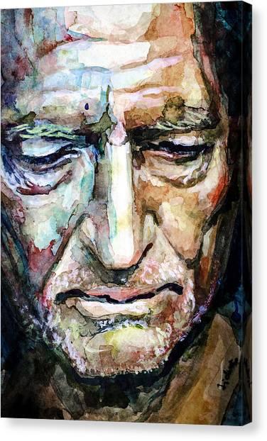 Willie Nelson  Portrait Canvas Print
