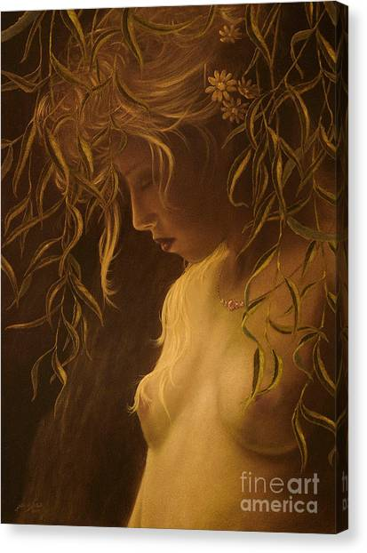Willow Girl Canvas Print