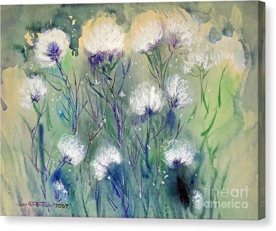 Willowy Whites Canvas Print