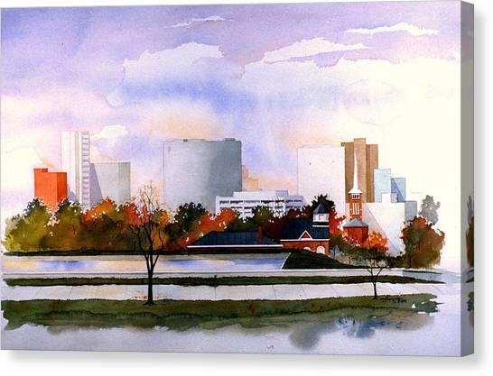 Wilmington Resevoir Skyline Canvas Print