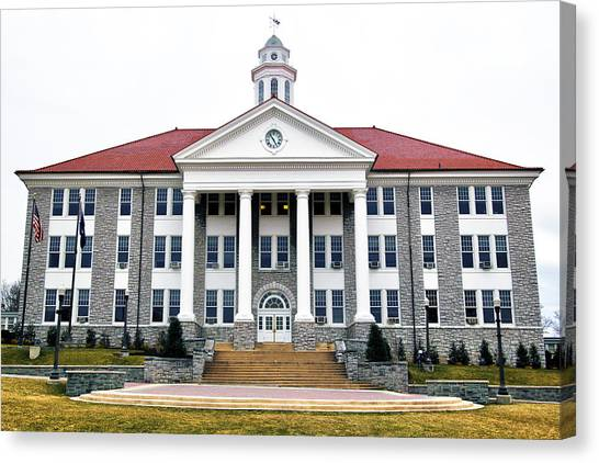 James Madison University Jmu Canvas Print - Wilson Hall by Mitch Cat