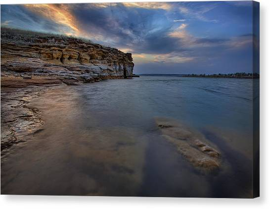 Wilson Red Rock Sunset Canvas Print by Thomas Zimmerman
