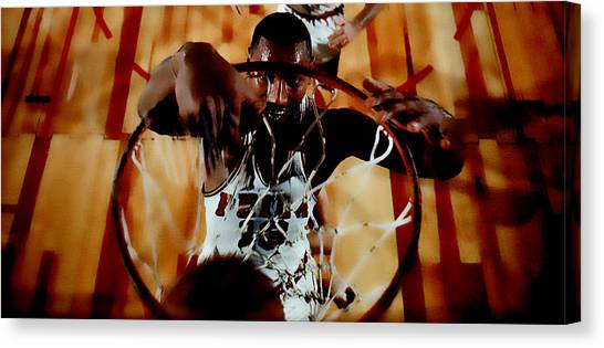 Kappa Alpha Psi Canvas Print - Wilt Chamberlain by Brian Reaves