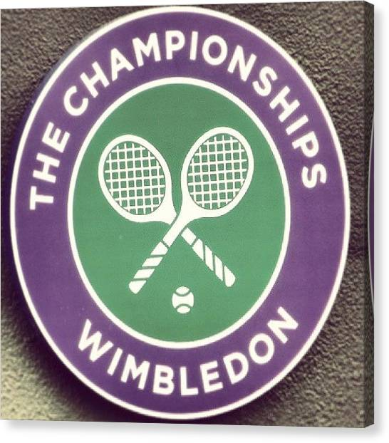 Tennis Canvas Print - #wimbledon #2013 #tennis by Georgina Moore