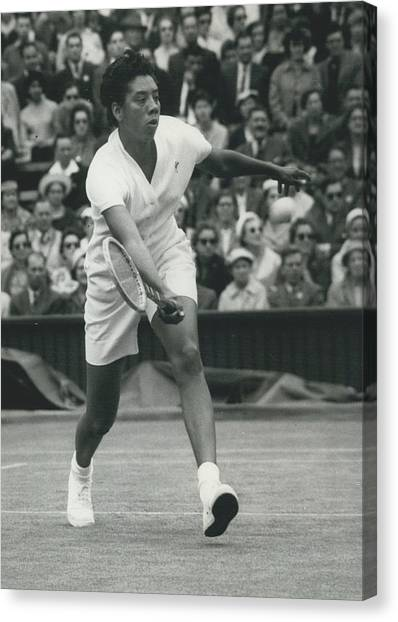 Wimbledon Championships - Second Day..., Althea Gibson In Canvas Print by Retro Images Archive