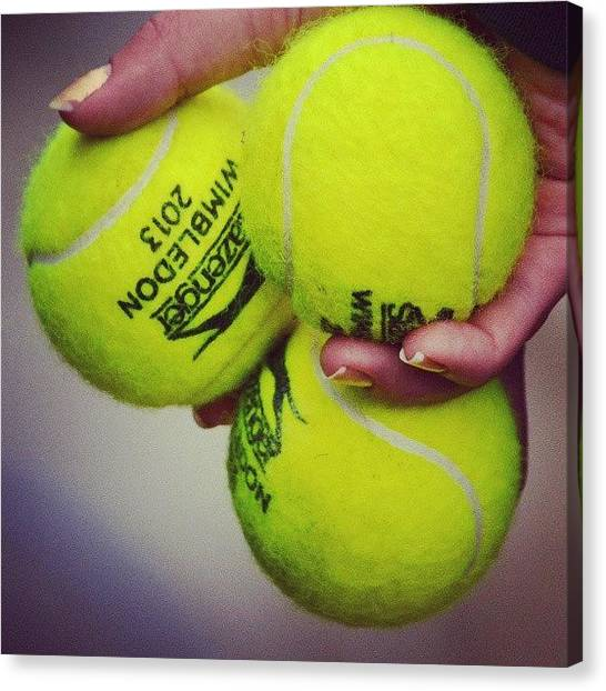 Tennis Ball Canvas Print - Wimbledon Tennis Balls #wimbledon #2013 by Mateusz Plaza