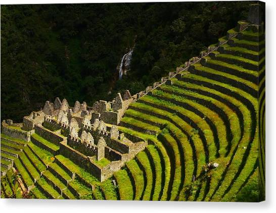 Peruvian Canvas Print - Winay Wayna Wide View by FireFlux Studios