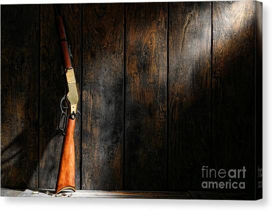 Shotguns Canvas Print - Winchester by Olivier Le Queinec