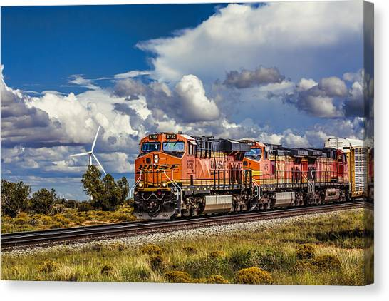 Wind And Rail Canvas Print