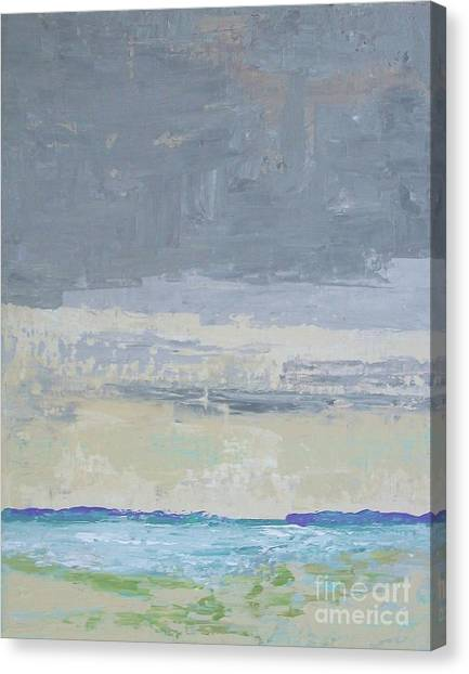 Wind And Rain On The Bay Canvas Print