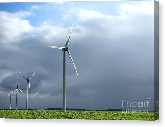 Clean Energy Canvas Print - Wind And Storm by Olivier Le Queinec