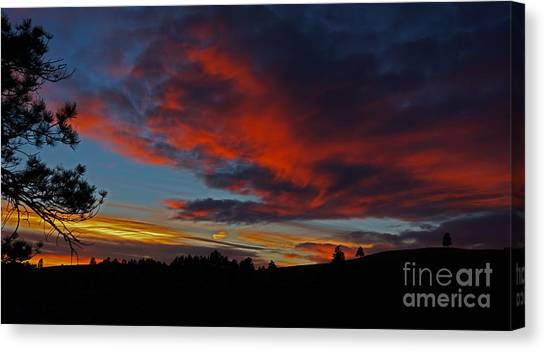 Black Hills Sunset Canvas Print