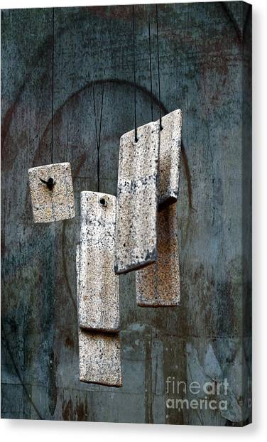 Wind Chimes Canvas Print - Wind Chimes by Ellen Cotton