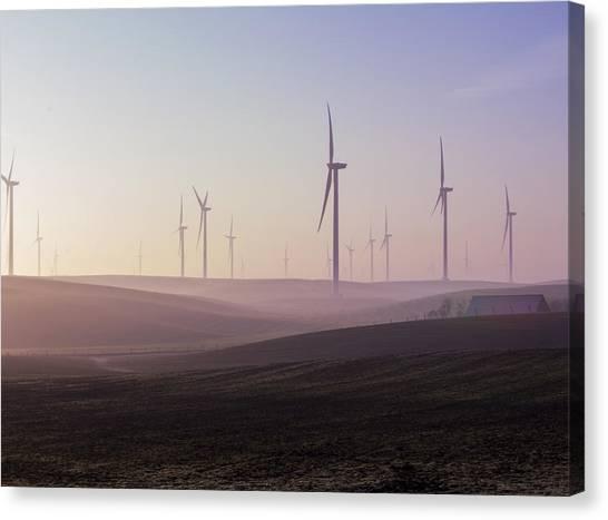 Wind Farm At Dawn Canvas Print