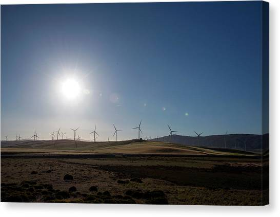 Wind Farms Canvas Print - Wind Farm Turbines by Louise Murray