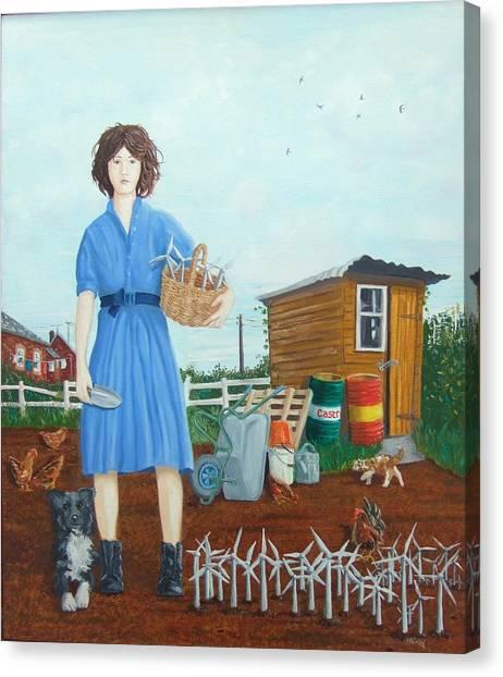 Canvas Print - Wind Farmer by Michael McEvoy