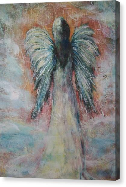 Wind In My Wings, Angel Canvas Print