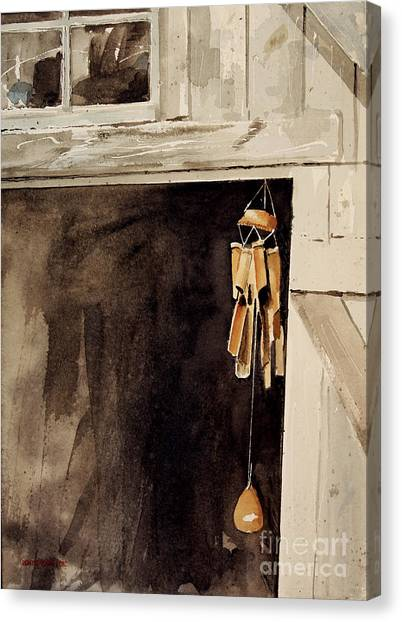 Wind Chimes Canvas Print - Wind Music by Monte Toon