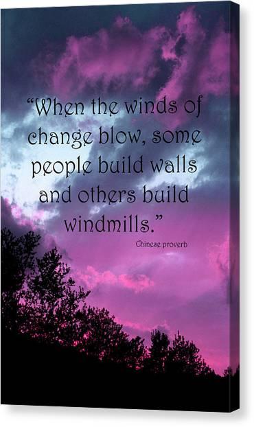 Wind Of Change Canvas Print by Angela Bruno