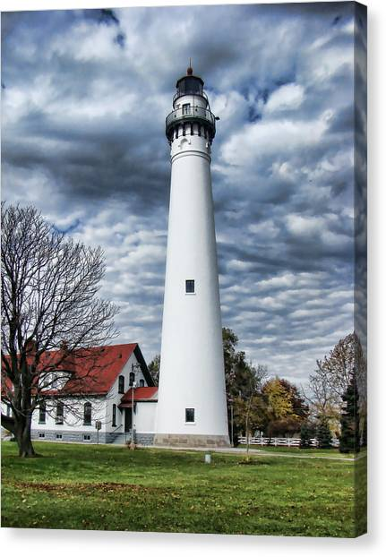 Wind Point Lighthouse Canvas Print