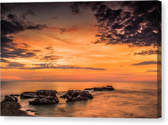 Wind Point Sunrise Canvas Print