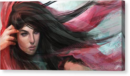 Flowing Canvas Print - Wind by Steve Goad