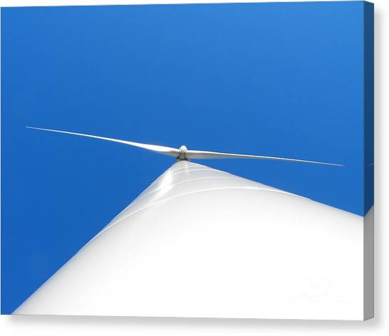 Wind Turbine Blue Sky Canvas Print