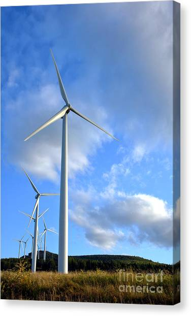 Wind Farms Canvas Print - Wind Turbine Farm by Olivier Le Queinec