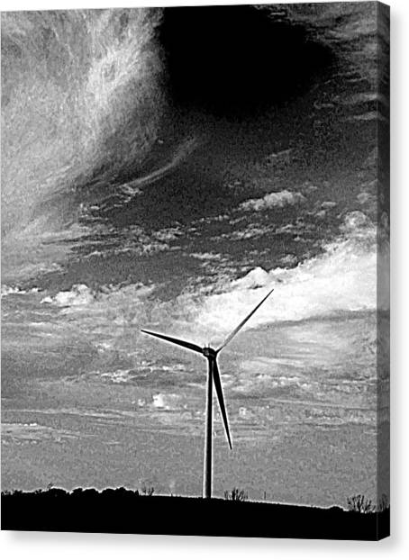 Wind Turbine Canvas Print by Maria Scarfone