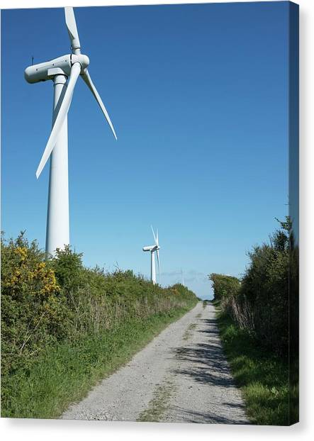 Clean Energy Canvas Print - Wind Turbines by Robert Brook
