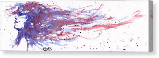 Windblown Joy Canvas Print