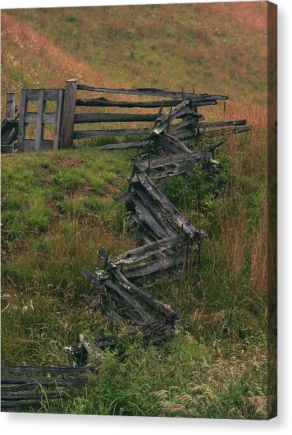 Winding Fence Canvas Print by Bill Marder